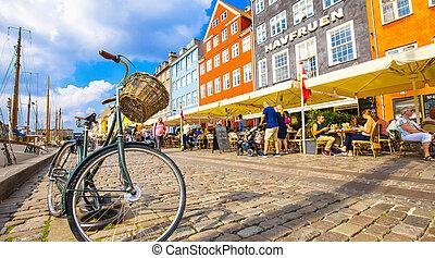 vieille ville, danemark, port, nyhavn, copenhague