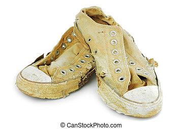 viejas zapatillas de deporte
