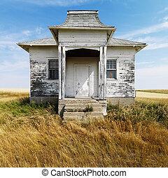 viejo, abandonado, edificio.