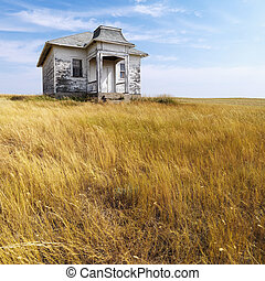 viejo, abandonado, house.