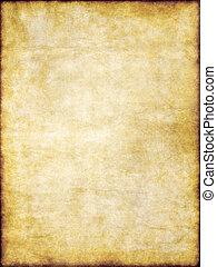 viejo, amarillo, marrón, vendimia, pergamino, papel, textura