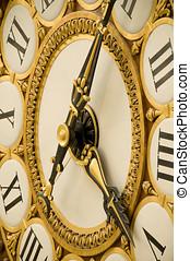 viejo, antigüedad, reloj