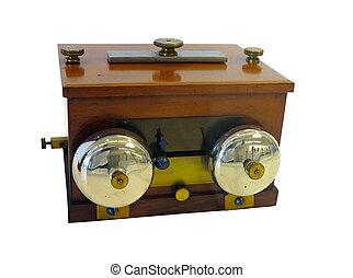 viejo, antiguo, telégrafo, dispositivo, aislado, encima,...