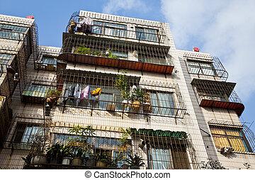 viejo, apartamentos, en, china