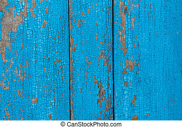 viejo, azul, de madera, plano de fondo