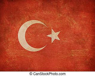 viejo, bandera del pavo