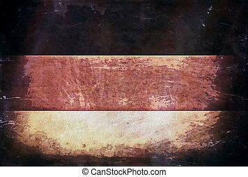 viejo, bandera, grunge, alemania