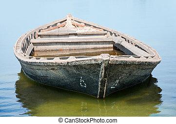 viejo, barco de pesca