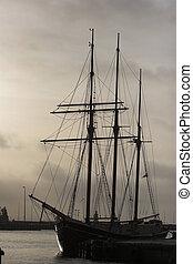 viejo, barco