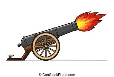 viejo, cañón que despide