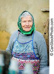 viejo, campesino, woman.
