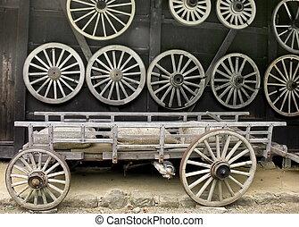 viejo, carrito