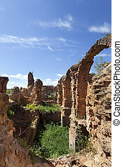 viejo, castillo, ruinas