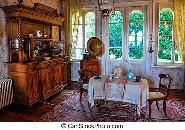 viejo, chile, alemán, museo, histórico, furnitures, valdivia