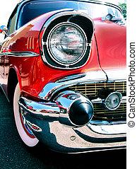 viejo, clásico, chevy, coche