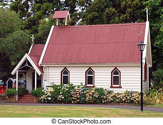 viejo, colonial, iglesia