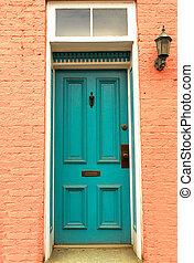 viejo, colonial, puerta, en, frederick, maryland