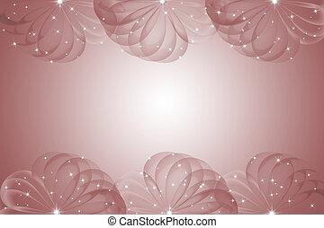 viejo, color de rose, resumen, plano de fondo, con, círculo, capas