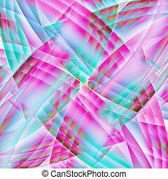 viejo, colorido, caótico, patrón, resumen, líneas, curvo, ...