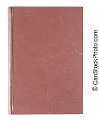 viejo, cubierta, aislado, libro, plano de fondo, rojo blanco