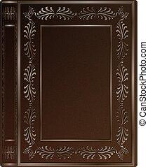 viejo, cubierta de libro