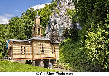 viejo, de madera, -, poland., ojcow, capilla