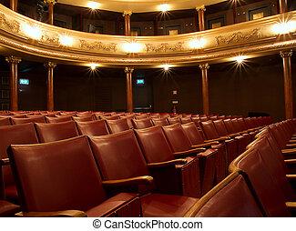viejo, dentro, teatro