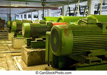 viejo, eléctrico, motores