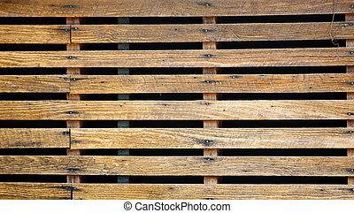 viejo, encima, tablillas madera, negro