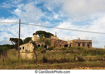 viejo, español, edificio