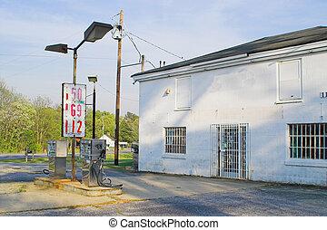 viejo, estación, gas
