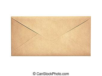 viejo, estrecho, sobre, aislado, carta