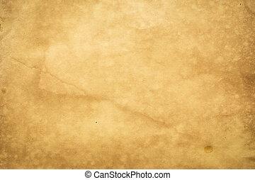 viejo, extra grande, papel, plano de fondo, grunge