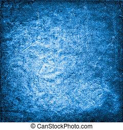 viejo, fondo azul