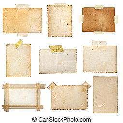 viejo, foto, postal