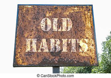 viejo, hábitos, mensaje
