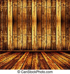 viejo, habitación, belleza, papel pintado, usado, anterior
