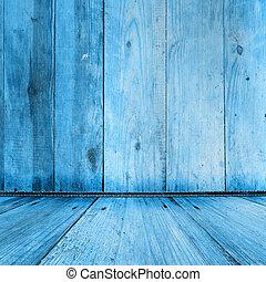 viejo, habitación, con, usado, papel pintado, y, anterior,...