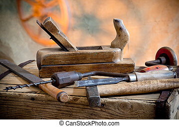 viejo, herramientas