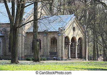 viejo, iglesia gótica