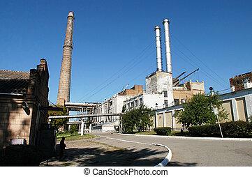 viejo, industrial, complejo