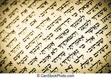 viejo, judío, texto, devocionario, hebreo