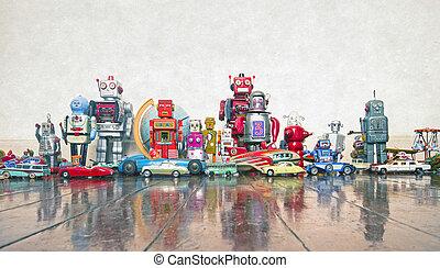 viejo, juguetes
