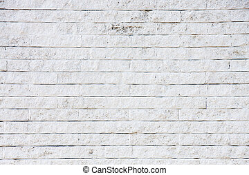 viejo, ladrillo blanco, pared