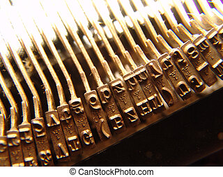 viejo, máquina de escribir