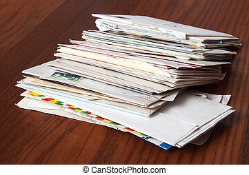 viejo, mail:, cartas, y, enveloppe