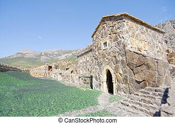 viejo, medieval, castillo