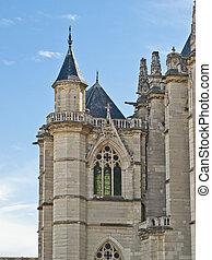 viejo, medieval, catedral, en, francés, castillo