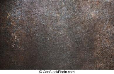 viejo, metal, textura, oxidado, plano de fondo, o