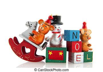 viejo, navidad, juguetes